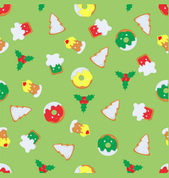 pattern of christmas symbols vector image