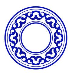 porcelain round frame vector image