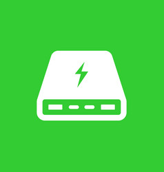 Power bank portable charger icon vector