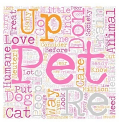Protect your pets from the pound text background vector
