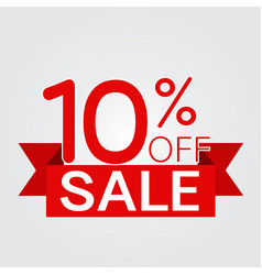 sale off discount text vector image