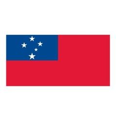 Samoa flag vector