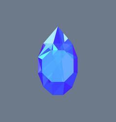 Sapphire gem shining logo drop shaped vector