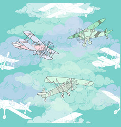 Seaml colors airplanes-07 vector