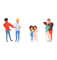 Set different families with kids homosexual vector
