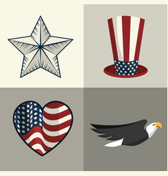 Set elements to independence day tradition vector