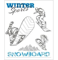 Snowboard - winter sport stock vector image