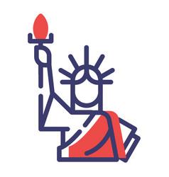 statue liberty flatoutline vector image