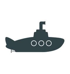 submarine icon on white background vector image
