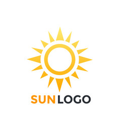 Sun logo element icon vector
