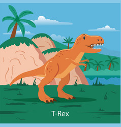t-rex prehistoric animal vector image