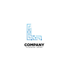 Technology letter l - logo vector
