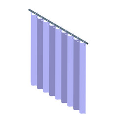 Textile shower curtain icon isometric style vector