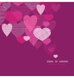 Textured fabric hearts decor pattern background vector