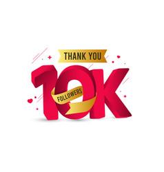 Thank you 10 k followers template design vector