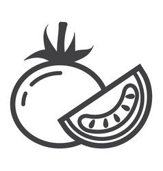 tomato line icon vegetable and diet vector image