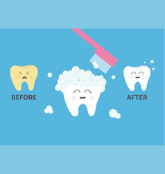 Toothbrush with toothpaste bubble foam healthy vector