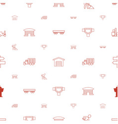 Traffic icons pattern seamless white background vector