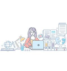 translation - modern line design style colorful vector image