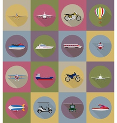 transport flat icons 79 vector image