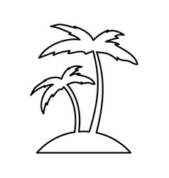 tree palm beach icon vector image