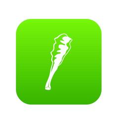 Truncheon icon green vector