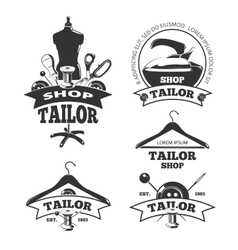 Vintage tailor labels badges emblems vector image