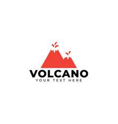 volcano mountain logo design template isolated vector image