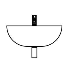 Wash basin black color icon vector