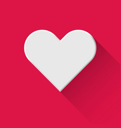 white abstract heart sign vector image