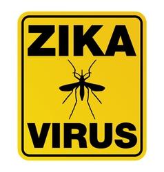 Zika virus yellow sign vector
