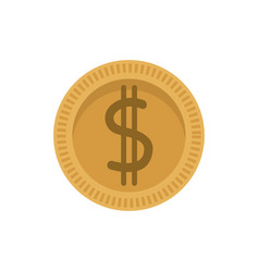 dollar coin money currency cash vector image vector image