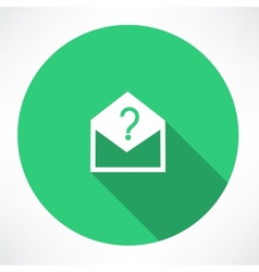 Envelope with a question mark vector image vector image