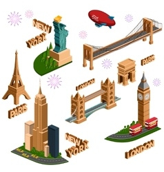 Famous building set vector image