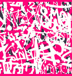 graffiti seamless pattern with abstract vector image