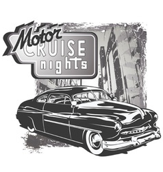 mafia classic car grunge vector image vector image