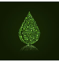 Water Drop on Black Background vector image vector image