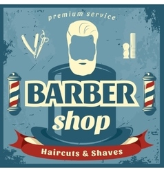 Barber Shop Retro Style Poster vector image vector image