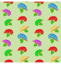 Color chameleons seamless pattern vector image