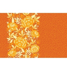 Fire flowers and leaves vertical seamless pattern vector image