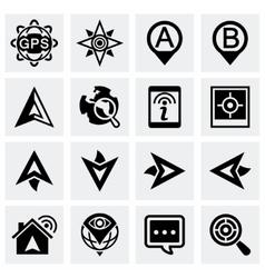 Navigation icon set vector image