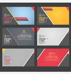 presentation template flat design vector image vector image