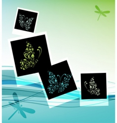 Collage design insert your photos vector