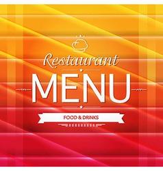 Color Restaurant Menu Design vector image