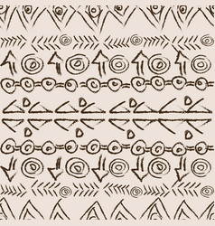 hand drawn background with ethnic motifs vector image