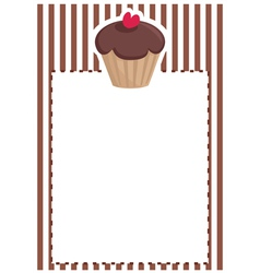 Sweet muffin cupcake baby shower brown invitation vector image