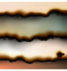 Vintage burned paper backgrounds vector image