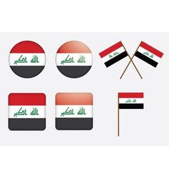 badges with flag of Iraq vector image