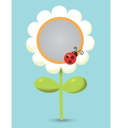 Flower-frame vector image vector image