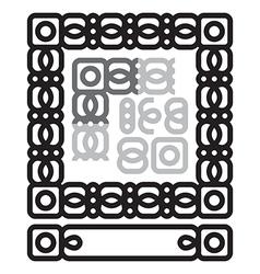 Frame ornament vector image